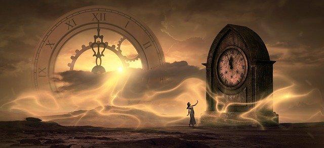 Fantasiebild mit Uhren